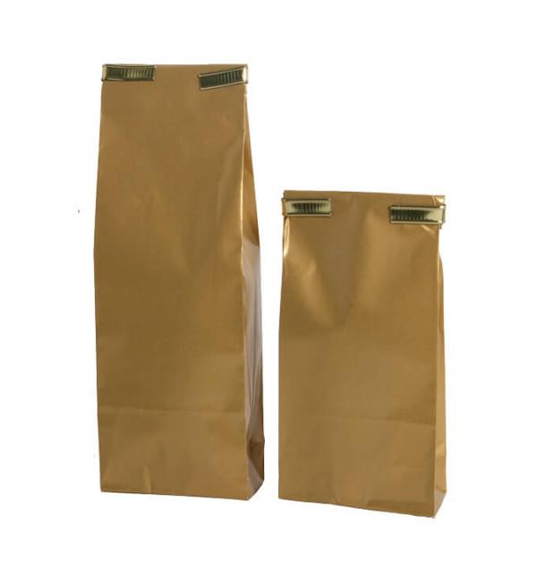gouden sluitstrip voor papieren zakje