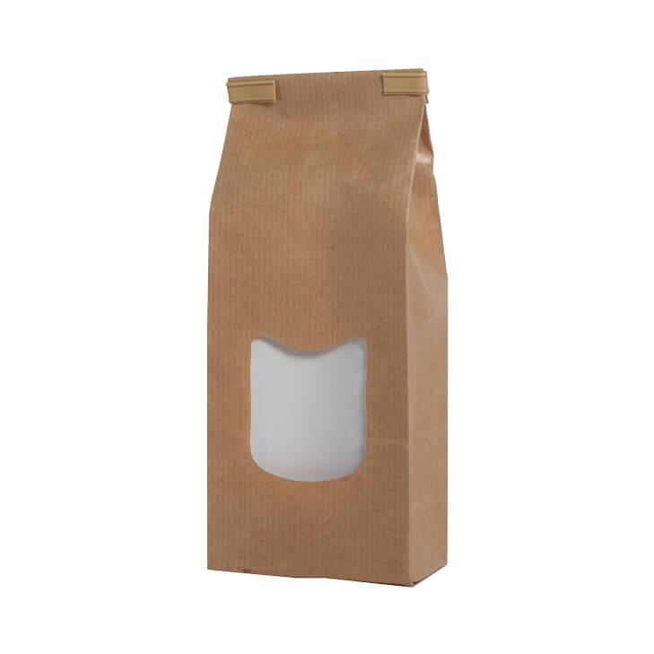 bruine papieren vensterzakjes verpakkingen baginco