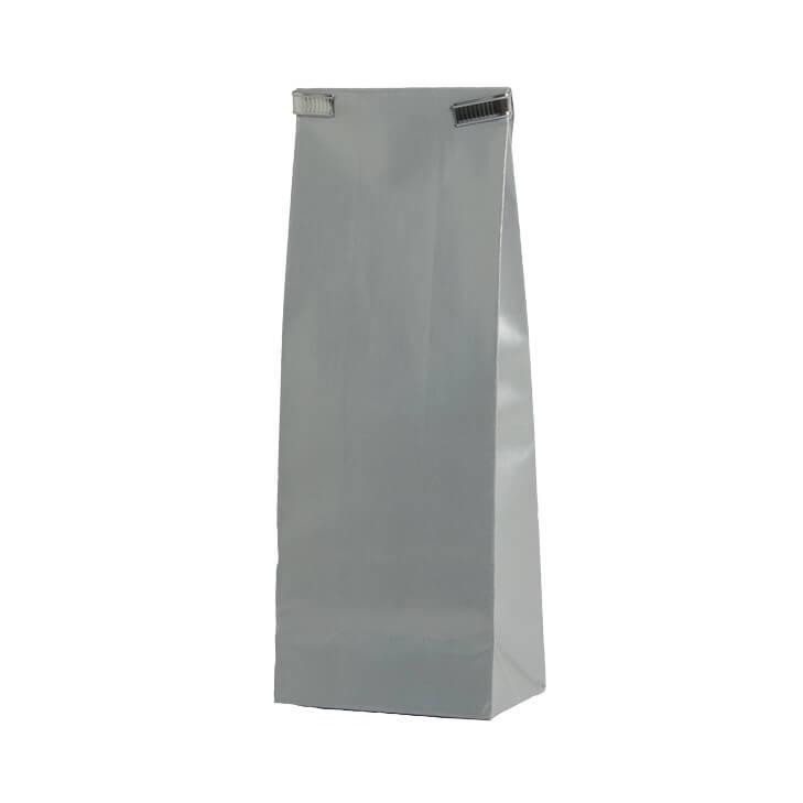 Zilverkleurige papieren zakjes gekleurde zakjes baginco for Papieren vensterzakjes
