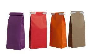 Gekleurde zakjes papieren blokbodemzakjes baginco for Papieren vensterzakjes