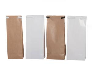 Papierbeuteln mit Blockboden