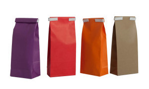bolsas papel colores con fondo cuadrado