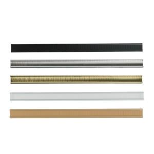cierres clip marrón, blanco, negro, dorado, plateado